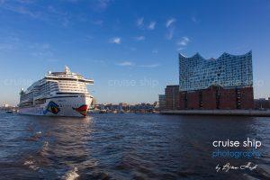 AIDAprima erreicht Hamburg