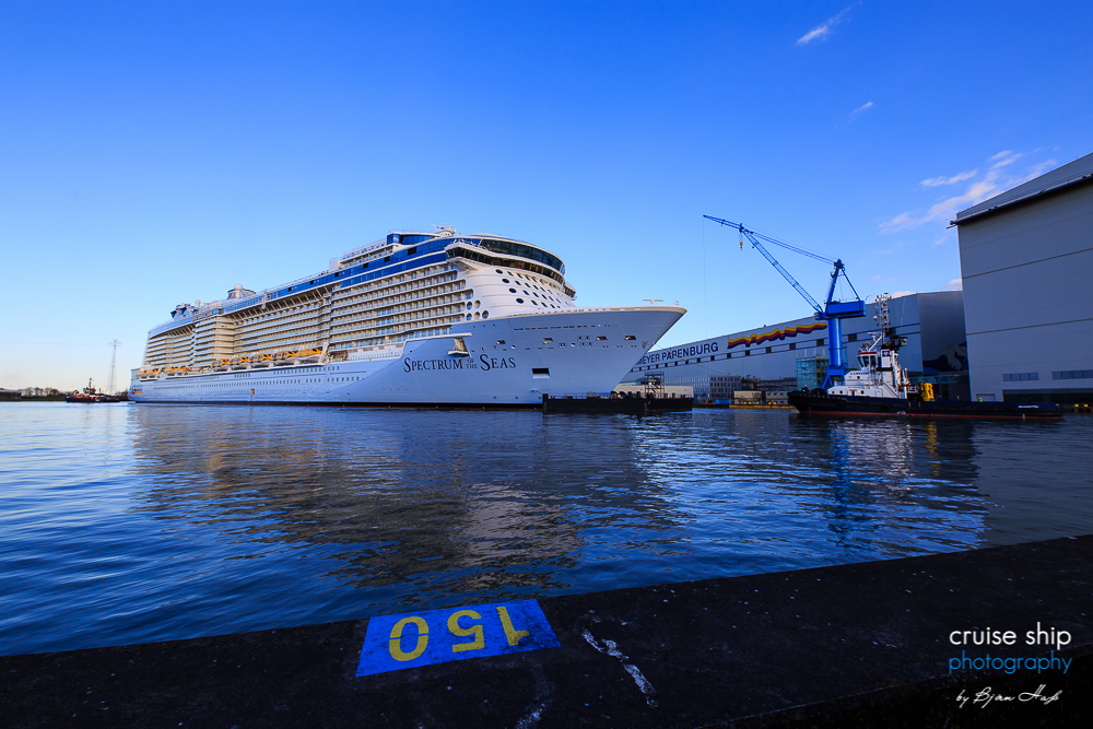 Die Spectrum of the Seas am Kai der Meyer Werft