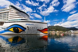 Mit AIDAperla erstmals in die norwegischen Fjorde