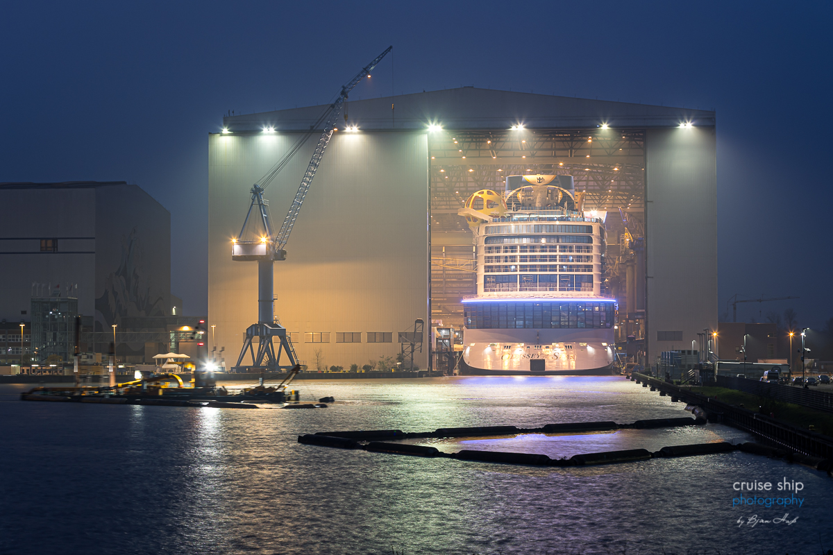 Meyer Werft: Odyssey of the Seas verlässt Baudock