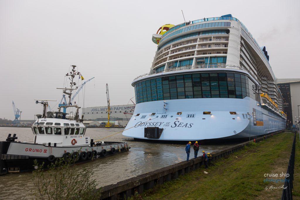 Meyer Werft: Odyssey of the Seas verlässt Baudock 2