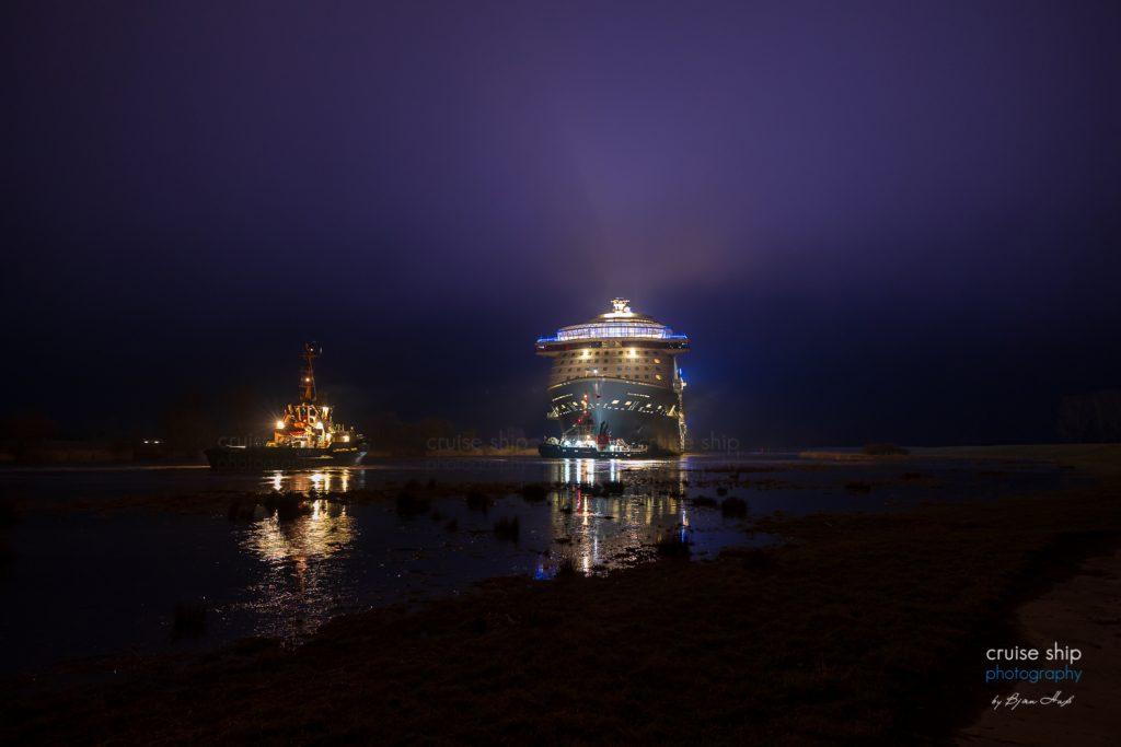 Odyssey of the Seas beginnt Emsüberführung 5
