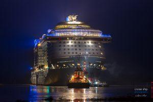 Odyssey of the Seas beginnt Emsüberführung