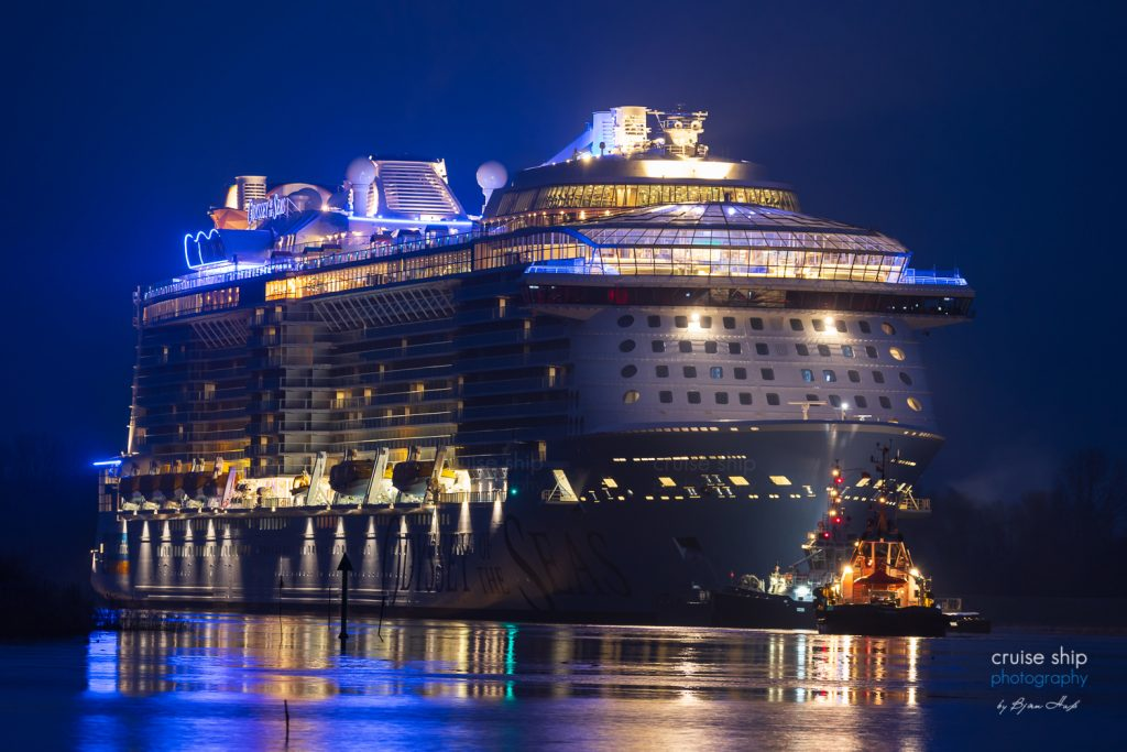 Odyssey of the Seas beginnt Emsüberführung 7