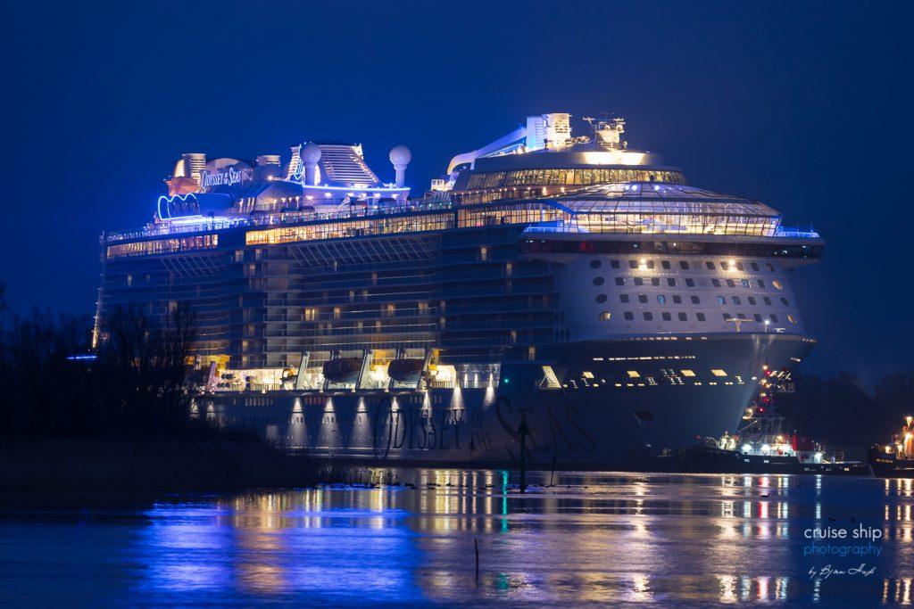 Odyssey of the Seas beginnt Emsüberführung 8