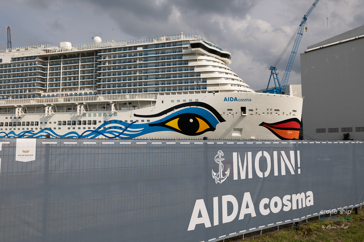 You are currently viewing AIDAcosma verlässt Baudock der Meyer Werft